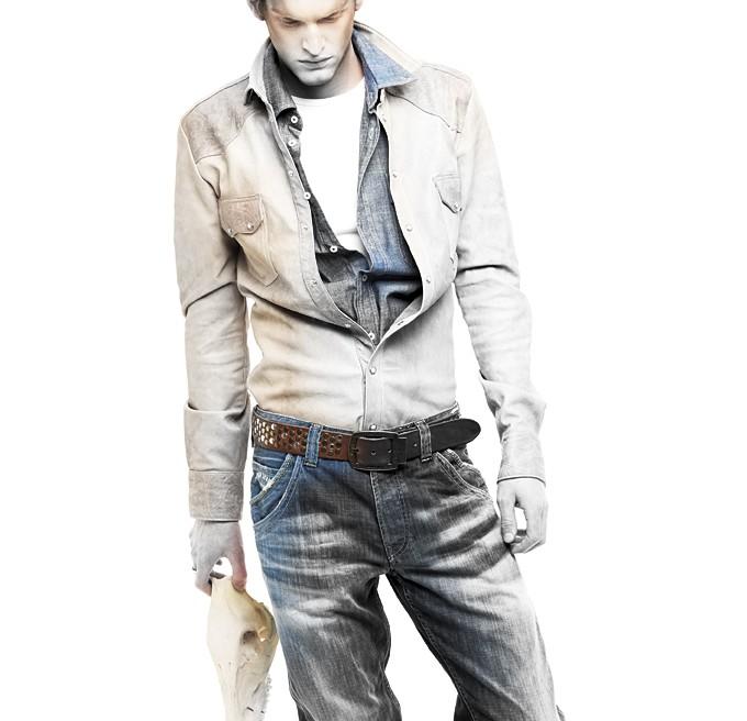 FHM Magazine Jeans Tie-dye
